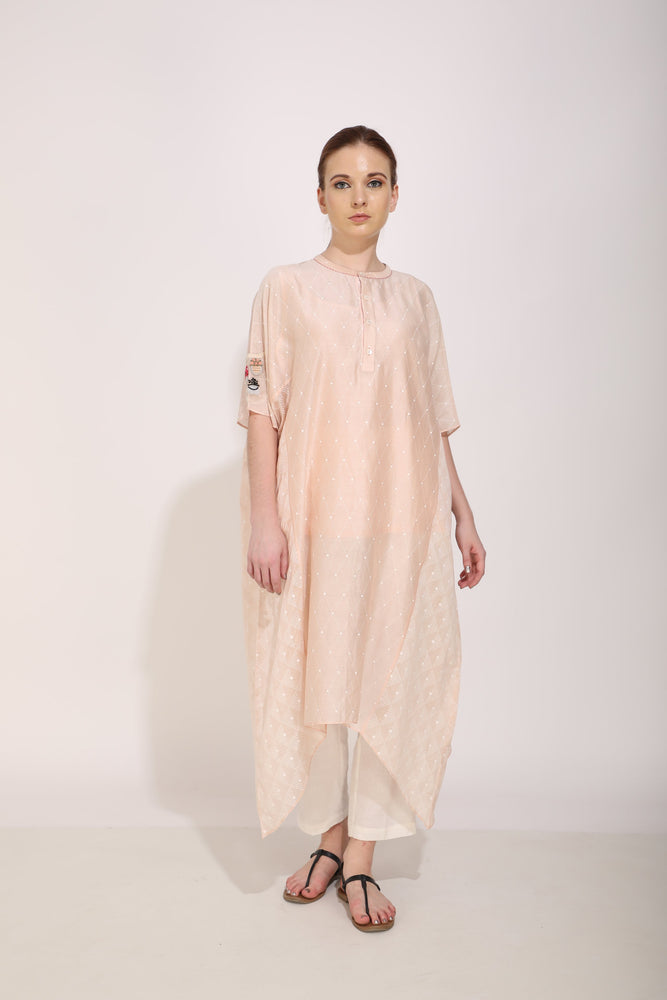 Old Rose Asymmetric Hem Tunic
