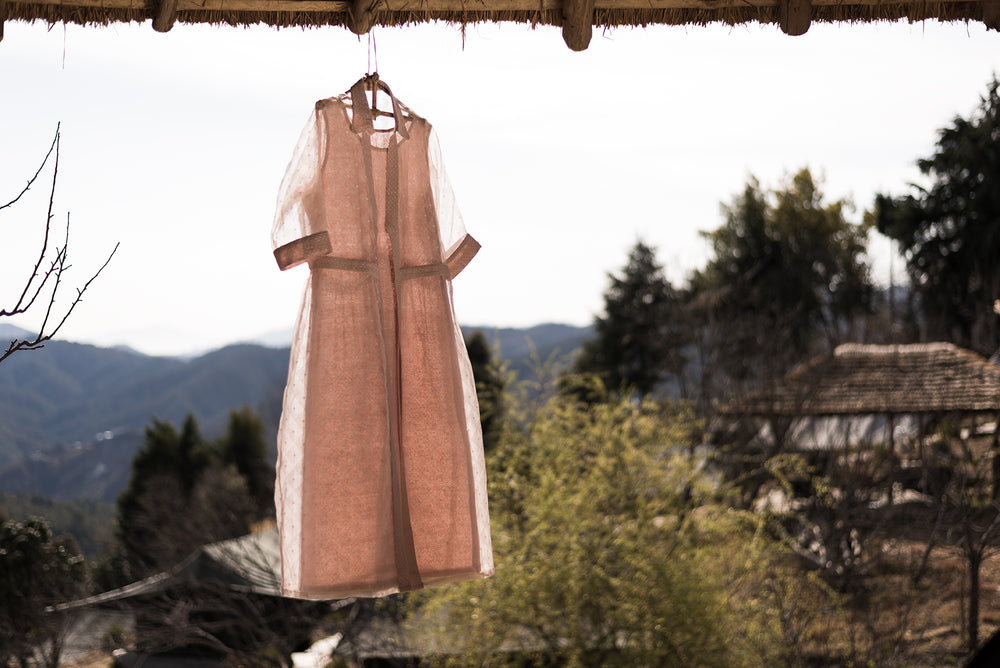 Old Rose Shadow Layer Dress