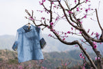 Denim Blue Lily Of Valley  Top