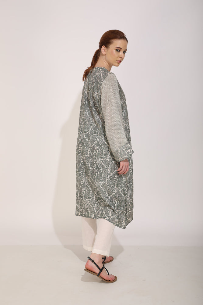 Blue/Green Paisley Printed Tunic