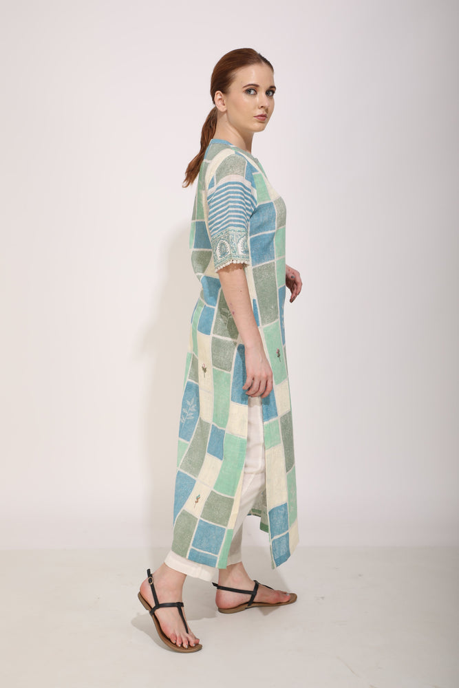 Blue Bricks Printed Tunic
