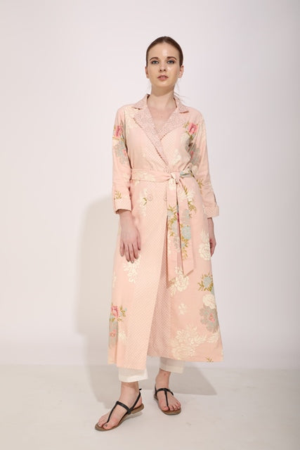 Desert Rose Printed Wrap Shirt Dress/Jacket