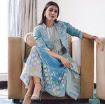 Samantha Akkineni | Blue Fish Appliqué Skirt