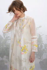 Ivory Roses Print Tunic With Jacket