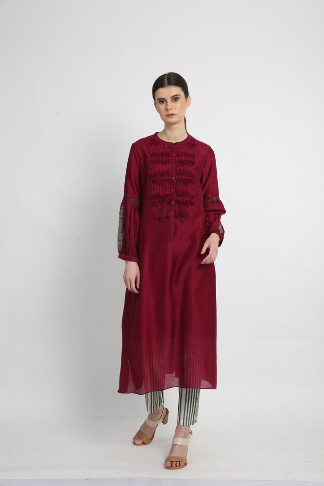 Beetroot Fern Tunic