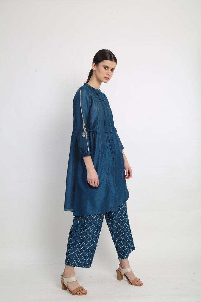 Blue Panelled Tunic