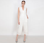 Ivory Grid Jumpsuit