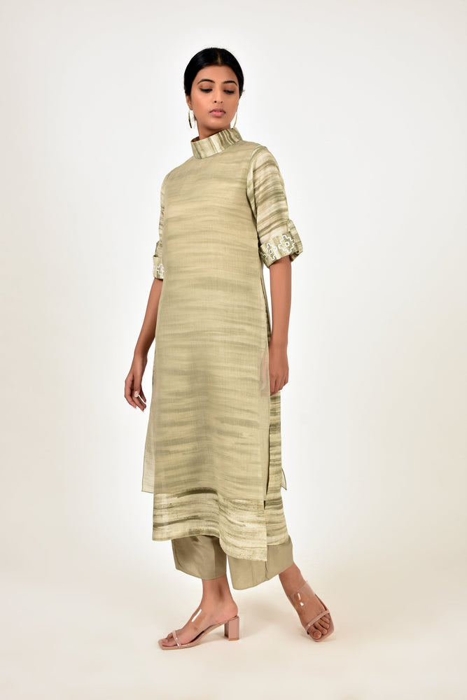 Grey Sand Dunes Layered Tunic
