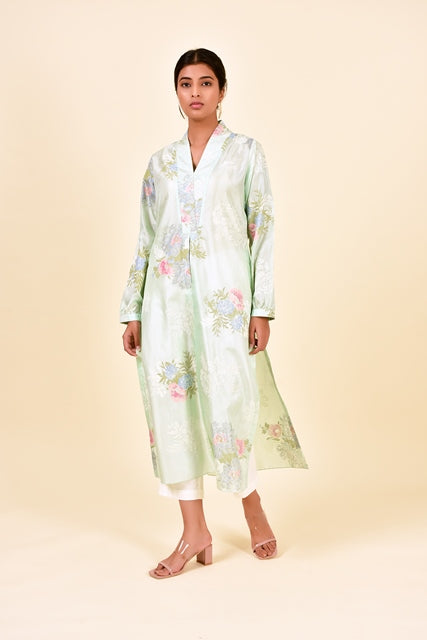 Desert Rose Kurta In Silk