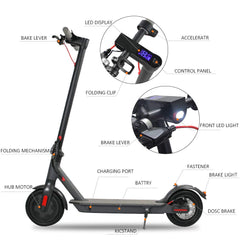 "Electric Scooter for Adults,UL Certified,8.5"" Tires 300W Motor Speed 15.8 MPH,Up to 16 Miles,Long Range Battery,Portable Folding Electric Scooters for Adults"