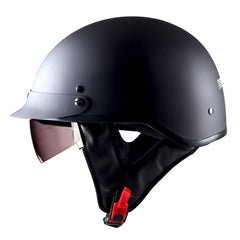 1STorm Motorcycle Half Face Helmet Mopeds Scooter Pilot with retratable Inner Smoked Visor:Hky205v