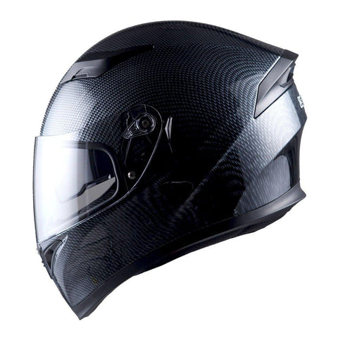 1Storm Motorcycle Street Bike Dual Visor/Sun Visor Full Face Helmet Mechanic: Hjk316clear