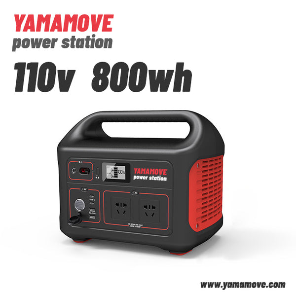 YAMAMOVE Power Station Explorer 240, 800Wh Backup Lithium Battery, 110V/800W Pure Sine Wave AC Outlet, Solar Generator (Solar Panel Not Included) for Outdoors Camping Travel Hunting Emergency