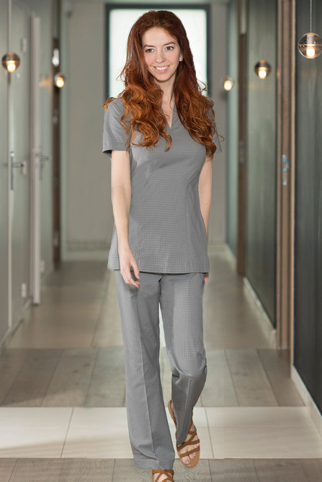 Femme Pantalon Gris Clair Spa - Fashionizer Spa France