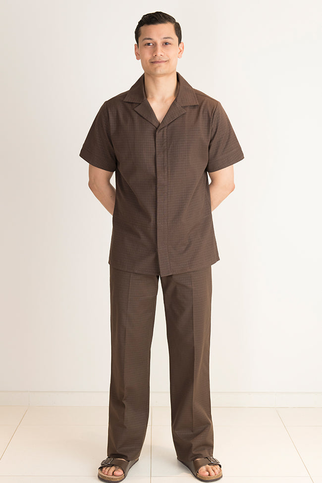 Homme Pantalon Spa Marron - Fashionizer Spa France