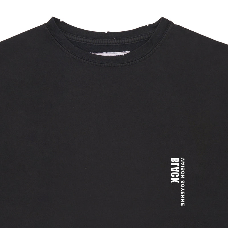 """Black"" Slogan Sweatshirt (Black)"
