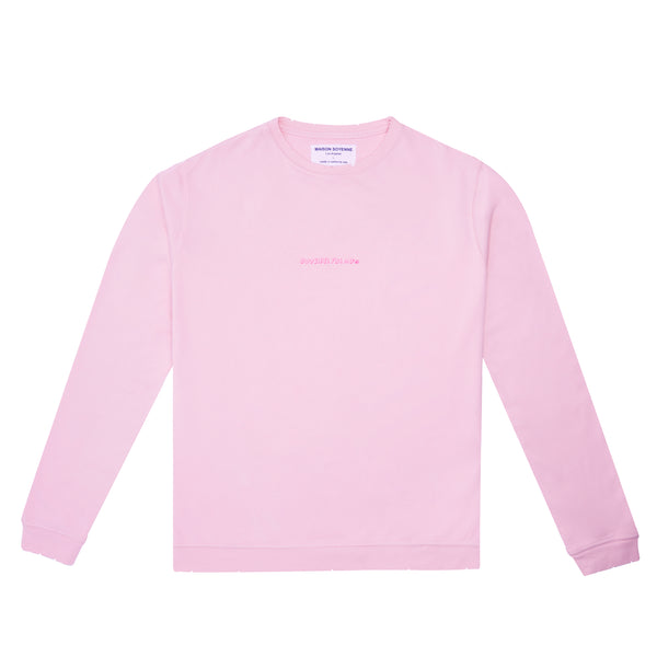 Outsider for Now Sweatshirt (Pale Pink)