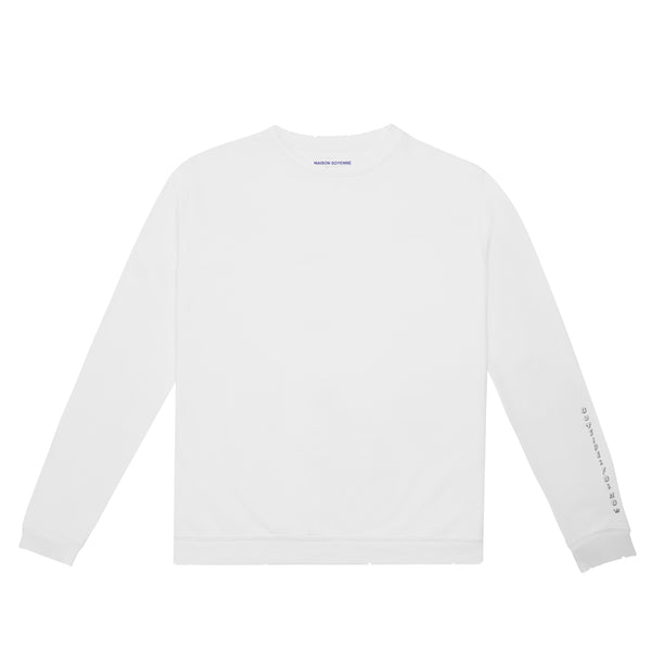 Outsider for Now Sweatshirt (White)