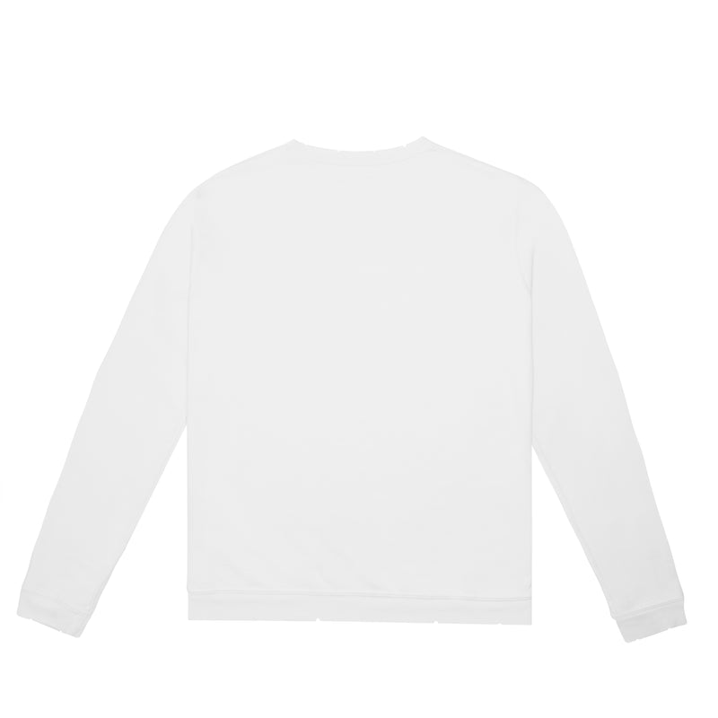 """White"" Slogan Sweatshirt (White)"