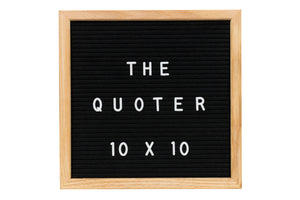 BUNDLE! Felt Letter Board Black 10X10 With 346 Letters, Numbers, Emoji and Symbols, Wooden Easel, Set Organizer, Cutters, and Letter Pouch