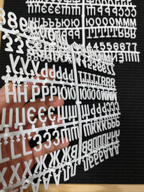 "Cyrillic Letters 3/4″ For Letter Board - 270 Russian Slavic - Piece Set of 3/4"" Cyrillic Letters, Symbols, and Numbers"
