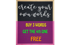 Load image into Gallery viewer, Custom Words Custom Font Number 4 - Letter Board Accessories