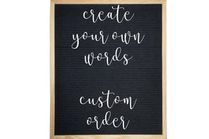 Custom Words Custom Font Number 4 - Letter Board Accessories