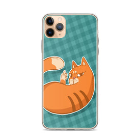 iPhone Cat With Middle Finger Case, Premium Quality Case, iPhone Cat Cover, iPhone Custom Design, iPhone 11 Pro Max, iPhone XS Max