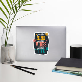 Good Vibes Sticker Stickers, Good Vibes Decal, Cute Stickers, Laptop Decal, Laptop Sticker Stickers, Macbook Decal, Vinyl Decal Sticker