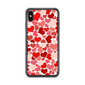 iPhone Hearts Pattern Case, Premium Quality Case, iPhone Hearts Pattern Cover, iPhone Custom Design, iPhone 11 Pro Max, iPhone XS Max