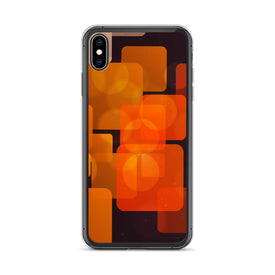 iPhone Orange Rectangular Case, Premium Quality Case, iPhone Orange Rectangular Cover, iPhone Custom Design, iPhone 11 Pro Max, iPhone XS