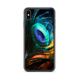 iPhone Peacock Feather Case, Premium Quality Case, iPhone Peacock Feather Cover, iPhone Custom Design, iPhone 11 Pro Max, iPhone XS Max