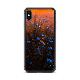 iPhone Blue Flowers Case, Premium Quality Case, iPhone Blue Flowers Cover, iPhone Custom Design, iPhone 11 Pro Max, iPhone XS Max, iPhone