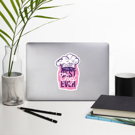 Best Chef Ever Vinyl Sticker, Professional Chef Decal, Best Cook Cute Stickers, Chef Hat Laptop Decal, Laptop Sticker Stickers, Macbook