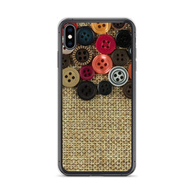 iPhone Buttons and Fabric Case, Premium Quality Case, iPhone Buttons & Fabric Cover, iPhone Custom Design,iPhone 11 Pro Max,iPhone XS Max