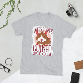 Girl Who Loves Guinea Pigs Shirt, Animal T Shirt T-shirt, Gift For Her, Good Vibes, T Shirts For Women, T-shirt Women, Graphic Tee,Girl Gift