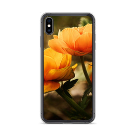 iPhone Orange Flowers Case, Premium Quality Case, iPhone Orange Flowers Cover, iPhone Custom Design, iPhone 11 Pro Max, iPhone XS Max, iPhon