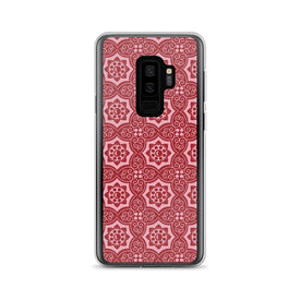 Samsung Red Ornaments Case, Premium Quality Case, Samsung Red Ornaments Cover, Samsung Custom Design, Samsung Galaxy S10+, Samsung Galaxy S9