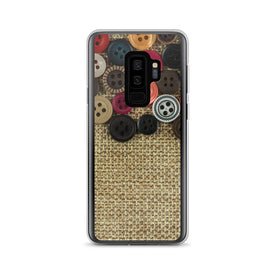 Samsung Buttons and Fabric Case, Premium Quality Case, Samsung Buttons and Fabric Cover, Samsung Custom Design, Samsung Galaxy S10+