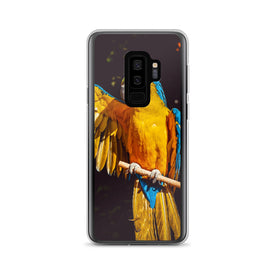 Samsung Yellow Parrot Case, Premium Quality Case, Samsung Yellow Parrot Cover, Samsung Custom Design, Samsung Galaxy S10+, Samsung Galaxy S9