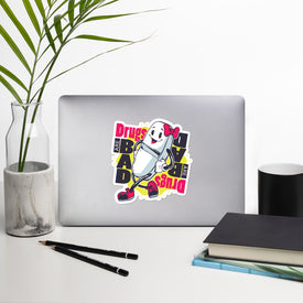 Drugs Are Bad Vinyl Sticker, Bad Drugs Decal, Pill Cute Stickers, Funny Pill Laptop Decal, Laptop Sticker Stickers,Stickers Macbook Pro