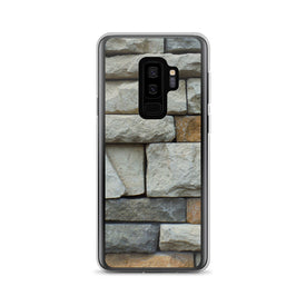 Samsung Stone Wall Case, Premium Quality Case, Samsung Stone Wall Cover, Samsung Custom Design, Samsung Galaxy S10+, Samsung Galaxy S9