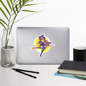 Dart Witch Sticker Stickers, Dart Witch Decal, Cute Stickers, Laptop Decal, Laptop Sticker Stickers, Macbook Decal, Vinyl Decal,Flying Witch
