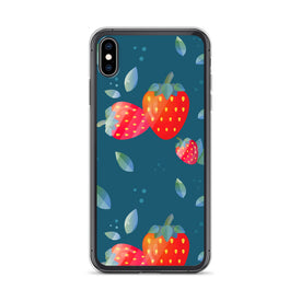 iPhone Strawberries Case, Premium Quality Case, iPhone Strawberries Cover, iPhone Custom Design, iPhone 11 Pro Max, iPhone XS Max