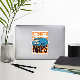 Funny Sloth Vinyl Sticker, Voting Sloth Decal, Napping Sloth Cute Stickers, Sloth Laptop Decal, Laptop Sticker Stickers,Stickers Macbook Pro