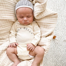 "Load image into Gallery viewer, ""Milk Belly"" Long-Sleeve Onesie (Leche)"