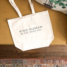 "Load image into Gallery viewer, ""Kind Human"" Canvas Tote"