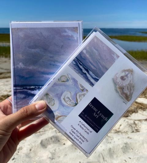 Box Set of Greeting Cards - Oysters and Waves