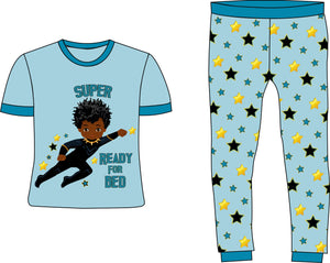 Super Ready for Bed Boy Blue Cotton Pajamas