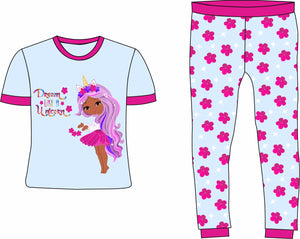 Dream like a Unicorn Lavender Cotton Pajamas | Pre-Order